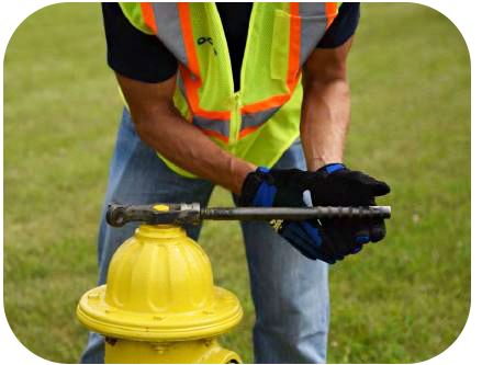 Worker Opening Hydrant