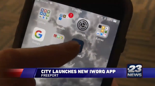 News report about iWorQ app