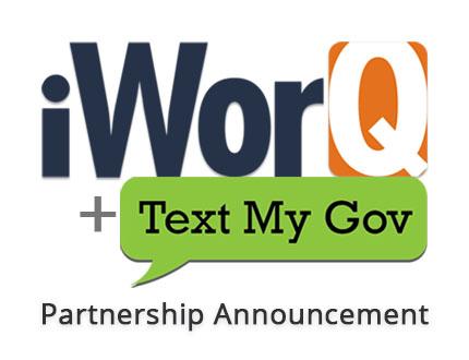 iWorq & TextMyGov logos