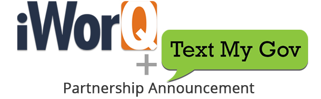 iworq plus TextMyGov Partnership Announcement
