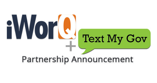iWorQ and Text My Gov Logos