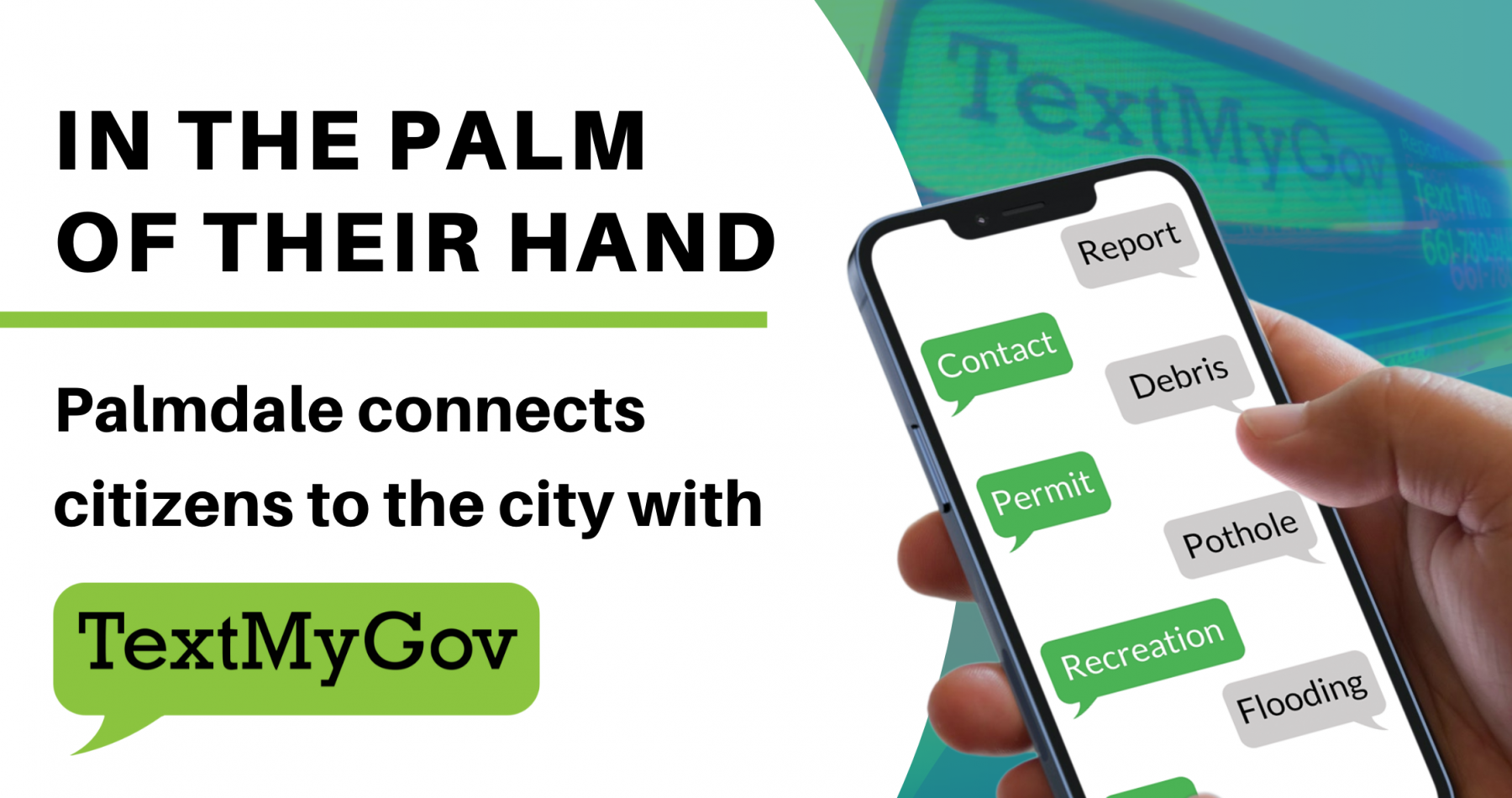 In the Palm of their hand Palmdale connects citizens to the city with
